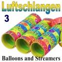 Luftschlangen Balloons and Streamers, 3 Rollen