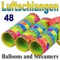 Luftschlangen Balloons and Streamers, 48 Rollen