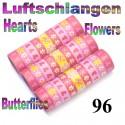 Luftschlangen Herzen & Blumen 96 Rollen