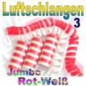 Luftschlangen-Jumbo, Rot-Weiß, 3 Rollen