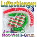 Luftschlangen-Jumbo, Rot-Weiß-Grün, 3 Rollen