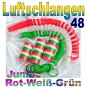 Luftschlangen-Jumbo, Rot-Weiß-Grün, 48 Rollen