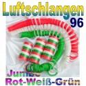 Luftschlangen-Jumbo, Rot-Weiß-Grün, 96 Rollen