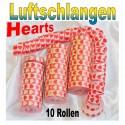 Luftschlangen Hearts 10 Rollen