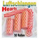 Luftschlangen Hearts 50 Rollen