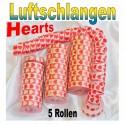 Luftschlangen Hearts 5 Rollen
