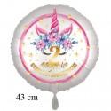 Magische Geburtstagswünsche, 2. Geburtstag. Unicorn Flowers mit Ballongas zum Geburtstag