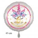 Magische Geburtstagswünsche, 6. Geburtstag. Unicorn Flowers mit Ballongas zum Geburtstag