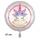 Magische Geburtstagswünsche, Unicorn Flowers mit Ballongas zum Geburtstag