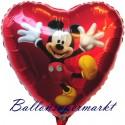 Luftballon Mickey Mouse Dancing, Folienballon mit Ballongas
