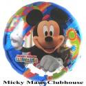 Luftballon Micky Maus,Club, Folienballon mit Ballongas-Helium