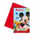Micky Maus, Einladungskarten zum Kindergeburtstag, 6 Stück