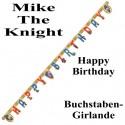 Mike The Knight Geburtstagsgirlande Happy Birthday mit Geburtstagszahlen zum Kindergeburtstag