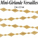 Mini-Girlande Versailles, gold, 2 m x 1,5 cm