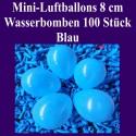 Luftballons Mini 8 cm, 100 Stück, Wasserbomben, Blau