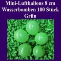 Luftballons Mini 8 cm, 100 Stück, Wasserbomben, Grün