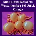 Luftballons Mini 8 cm, 100 Stück, Wasserbomben, Orange