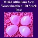 Luftballons Mini 8 cm, 100 Stück, Wasserbomben, Rosa