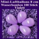 Luftballons Mini 8 cm, 100 Stück, Wasserbomben, Violett