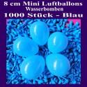 Luftballons Mini 8 cm, 1000 Stück, Wasserbomben, Blau