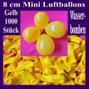 Luftballons Mini 8 cm, 1000 Stück, Wasserbomben, Gelb
