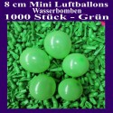 Luftballons Mini 8 cm, 1000 Stück, Wasserbomben, Grün