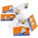 Minions, Einladungskarten zum Kindergeburtstag, 6 Stück