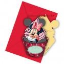 Minnie Maus Café, Einladungskarten zum Kindergeburtstag, 6 Stück