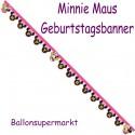 Minnie Maus Happy Helpers Geburtstagsgirlande Happy Birthday zum Kindergeburtstag