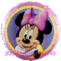 Luftballon Minnie Mouse, Folienballon mit Ballongas