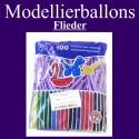 Modellierballons, Flieder, 100 Stück
