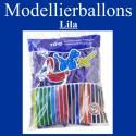 Modellierballons, Lila, 100 Stück