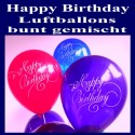 Motiv-Luftballons Happy Birthday