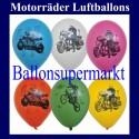Motiv-Luftballons-Motorräder