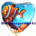 Luftballon Nemo Under the Sea, Folienballon mit Ballongas