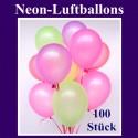 Luftballons Latex 20cm Ø Neon 100 Stück