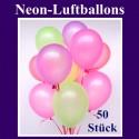 Luftballons Latex 20 cm Ø Neon 50 Stück