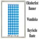 Oktoberfest Banner, Wanddekoration, 160 cm  x 42 cm, schwer entflammbar