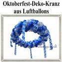 Oktoberfest Deko-Kranz aus Luftballons, Ballondekoration zum bayrischen Fest