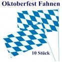 Bavaria Fahnen, 10 Stück, Oktoberfest-Dekoration