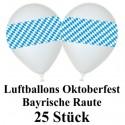 Oktoberfest-Luftballons Bayrische Raute