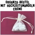 Hochzeitsmandeln, Organza-Beutel Creme