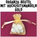Hochzeitsmandeln, Organza-Beutel Gold