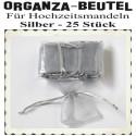 Organza-Beutel Silber für Hochzeitsmandeln, 25 Stück