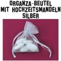 Hochzeitsmandeln, Organza-Beutel Silber