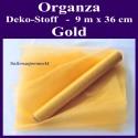 Organza Deko-Stoff, Gold, 9 Meter x 36 cm