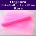 Organza Deko-Stoff, Rosa, 9 Meter x 36 cm