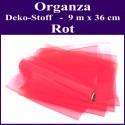 Organza Deko-Stoff, Rot, 9 Meter x 36 cm