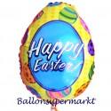 Osterei-Luftballon, Happy Easter, frohe Ostern, ohne Helium