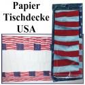 Papier-Tischdecke USA